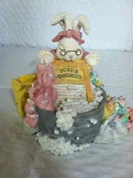 The Patchville Bunnies, Grammie's Wash Day , Nice Easter Decoration Or Gift