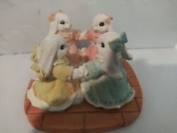 The Patchville Bunnies, Ring Around The Rosey, Nice Easter Decoration Or Gift