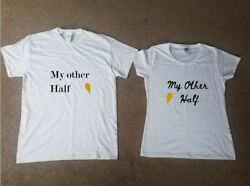 My Other Half Twin T shirt Set Partner Valentine His Her Lovers Sweet