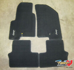 2014-2016 Jeep Compass/patriot Front And Rear Black Carpeted Floor Mats Mopar Oem