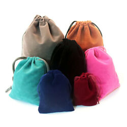 10pcs Velvet Bags Jewelry Packing Wedding Party Favors Gifts Drawstring Pouches $4.99