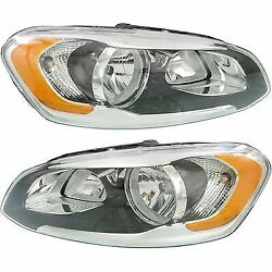 Headlight Set For 2014-2016 Volvo XC60 Driver and Passenger Side w bulb