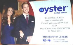 2011 Royal Wedding Oyster Card Limited Edition Fully Working