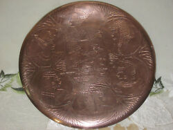 Egypt Wall Hanging Plate Vintage Onnig Of Cairo Egyptian Museum Copper Pharaoh