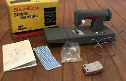 Vintage Toy Sew-ette Childand039s Battery Operated Sewing Machine Toy 1940and039s - 1960and039s