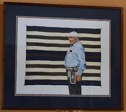 Man With Native American Blanket Limited Edition Serigraph Print By Steve Forbis