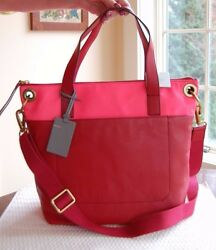 Nwt Fossil Leather Keely Tote Red Multi Zb6934995