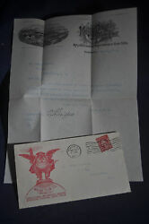 1912 Moline Plow Company, Moline Perfin And Rare Kings Daughter Union Poster Stamp
