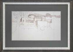 Frank Lloyd Wright Lithograph Andrsquoed Limited Thomas Hardy Wi House Perspective
