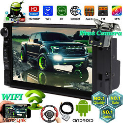 Fit 2005-15 Ford F150/250/350/450/550 2din Gps Aux Bluetooth Radio Stereo+camera