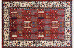 6and039 3 X 9and039 2 Hand Knotted Area Rug - P9322