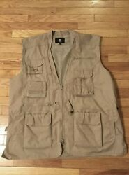 Rothco Sportsmans Multi-pocketed Utility Photographers Tan Vest Size Xl