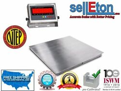 Stainless Steel Ntep 48 X 48 4and039 Diamond Plate Lift-top Floor Scale 5000 Lbs.