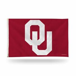 Oklahoma Sooners 3x5 Indoor Outdoor Banner Flag With Grommets For Hanging