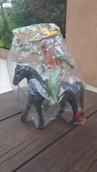 New Mexico Bootleg Western Wild West Toy Hard Plastic Cowboy With Horse And Rifle
