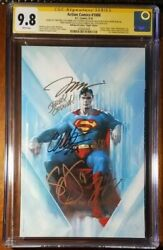 Action Comics 1000 Virgin Cgc 9.8 Ss 7x Jim Lee Dell'otto Snyder King Mann +2