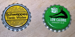 Set Of Canada Dry And Schweppes Bottle Caps New / Unused