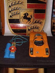 Rare Bandai Antique Tin Porsche 908 W/tethered Remote Control Working Perfectly