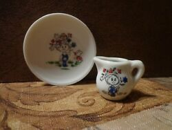 Vintage Doll/childs China Tea Set Saucer/creamer Made In Japan - Replacement