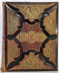 Late 19th Century Parallel-column Edition Illustrated King James Bible 1886