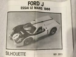 Ford Car Model Kit Extremely Rare Vintage Silhouette Made In France Gt40 Jcar Ex