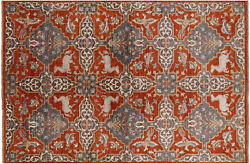 5and039 11 X 8and039 11 Fine Serapi Hand-knotted Wool Area Rug - P8073