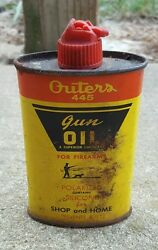Vintage Outers Gun Oil Small Can Advertising Collectible