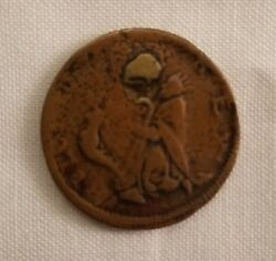 Newby Saint Patrick New Jersey Farthing Colonial Coin Medium Chocolate Brown