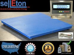 60 X 60 Industrial Floor Scale With Stainless Steel Indicator L 2500 Lbs X .5