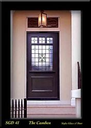 Victoria Exterior Front Door Solid Wood And Stained Glass Panels