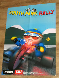 1999 South Park Rally And Armorines Project S.w.a.r.m. Very Rare Poster 41x58cm