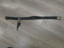 1900's U.r Masonic Belt And Buckle W/ Double Triangle And Hanging Blade Strap.