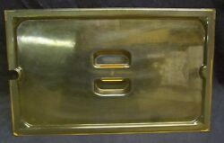 Restaurant Equipment Bar Supplies Vollrath Full Size Slotted Food Pan Lid Amber