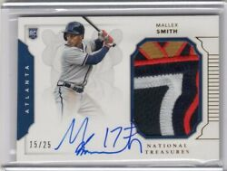 2016 National Treasures Mallex Smith Rookie Patch Auto 15/25 Rc Braves Mariners