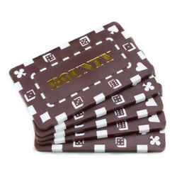 10 Brown Bounty 32g Rectangular Square Poker Chips Plaques New
