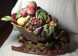 2003 Fitz And Floyd Renessance Sleight Tureen Rare Discontinued Retired Beautiful