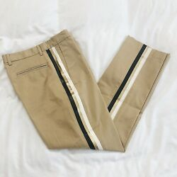 NWT Le Superbe Honore Pant Gold Stripe Designer $295 MSRP Made In USA