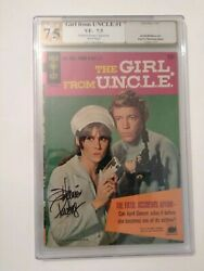 Girl From Uncle 1 Autograph By Stephanie Powers Pgx 7.5