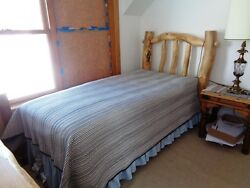 Wow Nice 1249 Log Bedframe Bed Frame With Mattress And Box Springs L@@k