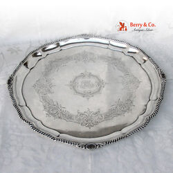 Large Round Serving Tray 800 Silver Austrian 1890