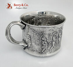 Sterling Silver Follow The Leader Baby Cup Gorham 1904