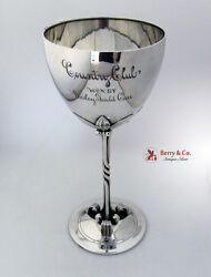 Arts And Crafts Trophy Cup Allegheny Country Club Towle Sterling Silver 1900