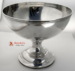 Pedestal Centerpiece Bowl Wood And Hughes Sterling Silver 1880 Monogram Eh