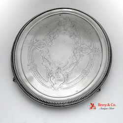Coin Silver Oval Tray Gorham 1860 Engraved
