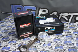 Manley Turbo Tuff Rods And Cp Pistons 86mm Bore 8.51 Comp For Toyota Supra 2jz