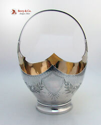 Aesthetic Basket Bright Cut Sterling Silver 1880