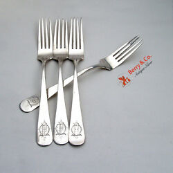 Spanish Colonial 4 Forks Solid Silver