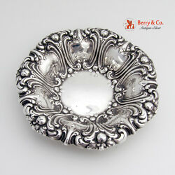 Ornate Repousse Scroll Medium Serving Bowl Sterling Frank M Whiting And Co 1900