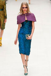 Burberry Prorsum Runway Limited Edition Peacock Feather Embellishd Dress $10000