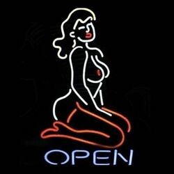 New Live Lady Nudes Open Bar Cub Party Wall Decor Neon Sign 17x14